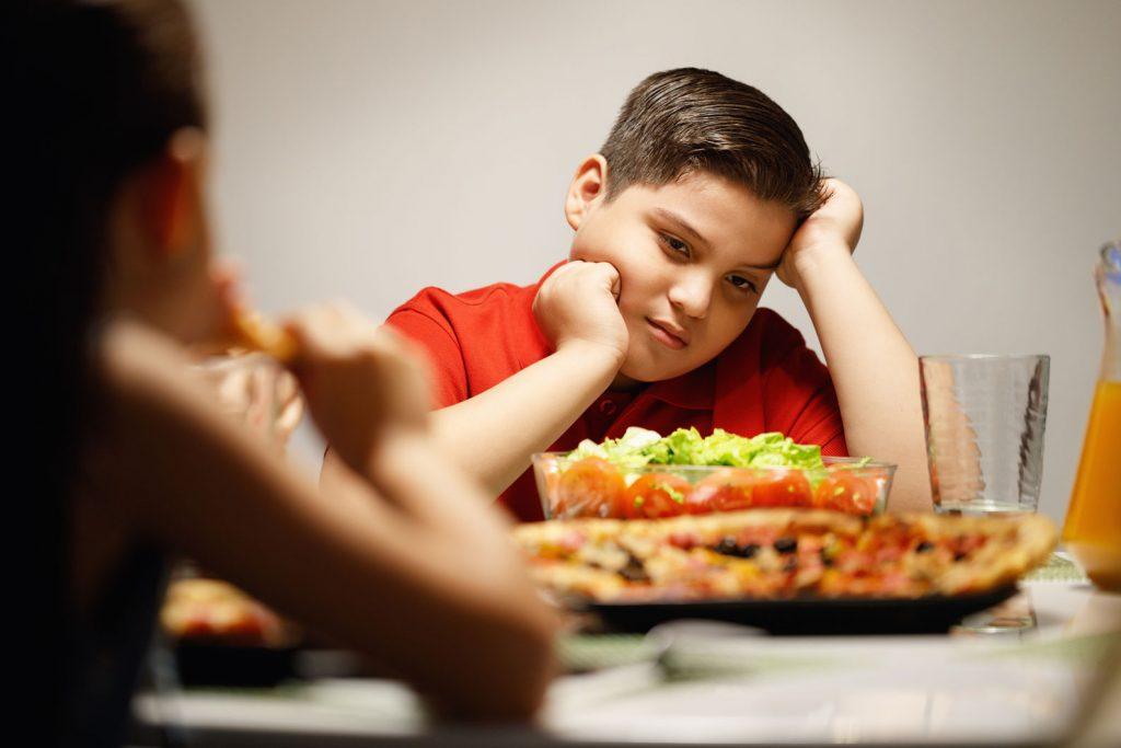 obesidad estado de animo niños
